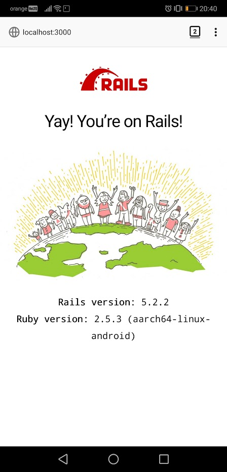 Ruby on Rails on Android